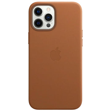 Apple Leather Case for iPhone 12 Pro Max (Saddle Brown)