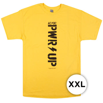 AC/DC - PWR/UP Logo Yellow T-Shirt (XXL)