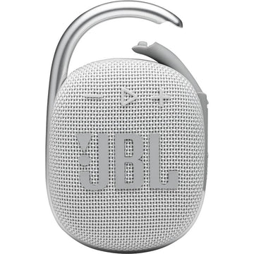 JBL Clip 4 Portable Bluetooth Speaker (White)