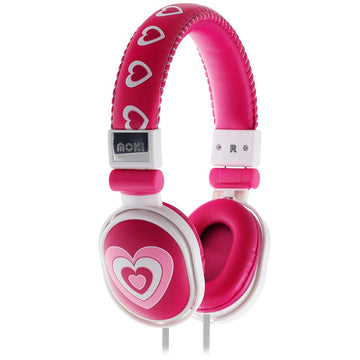 Moki Poppers Over-Ear Headphones (Hearts)
