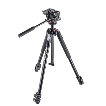 Manfrotto 190X aluminium 3-Section Tripod with XPRO Fluid Head
