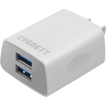 Cygnett Flow+ Dual USB Wall Charger (White)