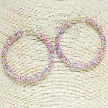 Load image into Gallery viewer, Glitter Sequin Hoops