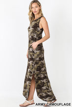 Load image into Gallery viewer, Camo + Chill Maxi Dress