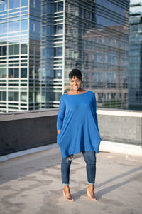 Gorgeous In Blue Tunic