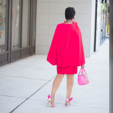Load image into Gallery viewer, Red Cape Dress