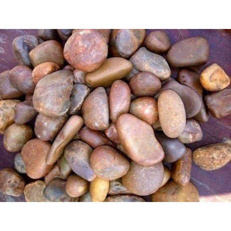 1 Ton Multi Red Natural Pebbles  (50 x 20Kg bags)