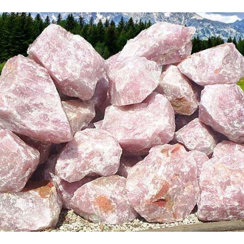 2 Ton Rose Quartz Decorative Stone