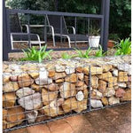Gabion Basket 1m x 1m x 0.5m  (Galvanized 3.15mm Weldmesh)