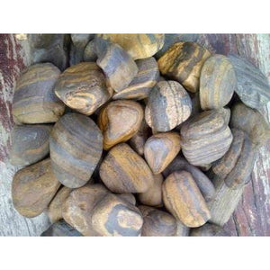 1 Ton Tiger Eye Pebbles (50 x 20Kg bags)