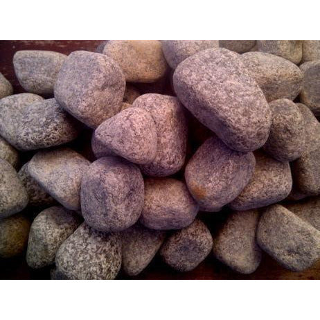 1 Ton Tumbled Granite Pebbles (50 x 20Kg bags)