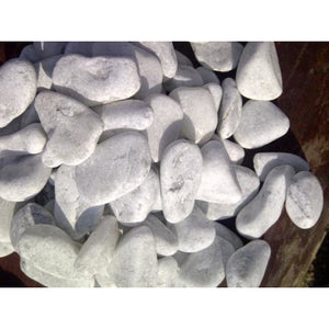 1 Ton Tumbled White Pebbles (50 x 20Kg bags)