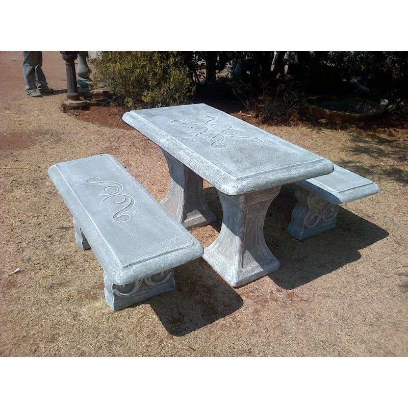 Concrete Table and Benches - Manhatan