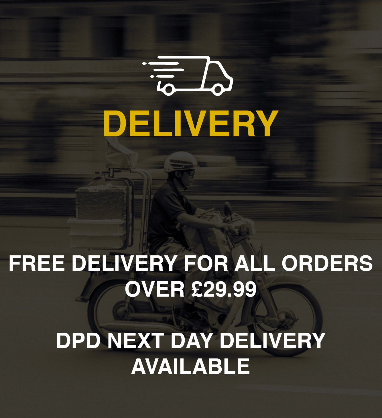 Fast delivery and free over £29.99