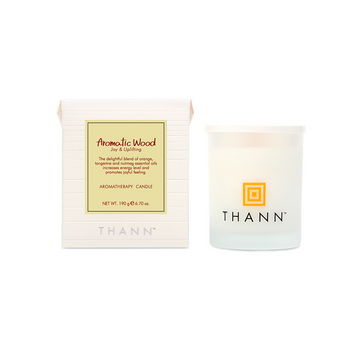 Aromatic Wood Aromatherapy Candle 190g - THANN Singapore