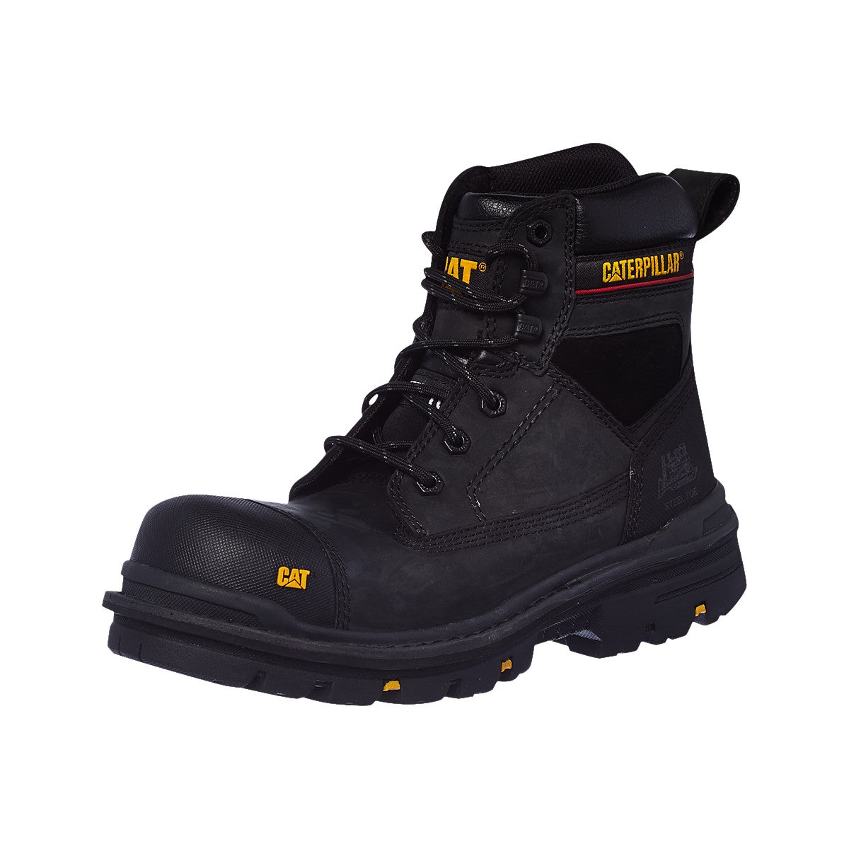 Mens Caterpillar Gravel Steel Toe Cap Safety Boots Cat Heavy Duty