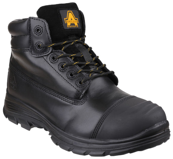 3328fa719 Mens Amblers Leather S3 Safety Work Boots Ankle Steel Toe   Mid Sole Lace  Up boot