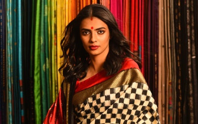 Checks Sarees are Back in Fashion