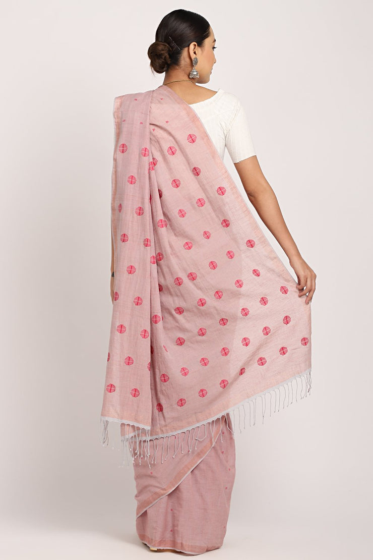 Indian Artizans - Lavender Cotton Khadi Saree