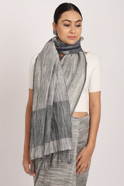 Indian Artizans - Grey Pure Linen Tie & Dye Body