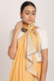 Indian Artizans - Peach Khadi Silk Saree