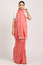 Indian Artizans - Pink Cotton Khadi Saree