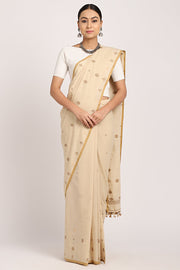 Indian Artizans - Beige Block Sujani Buta