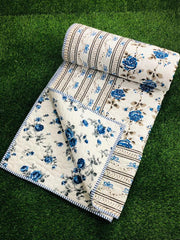 Block Printed Comforter for Double Beds