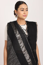Indian Artizans - Black Hand Woven Saree
