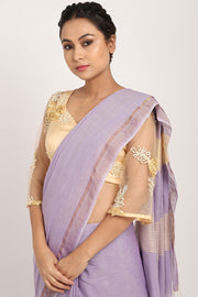 Pastel Lavender Handloom Cotton Saree