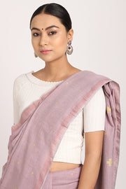 Indian Artizans - Lavender Jamdani Buta Saree