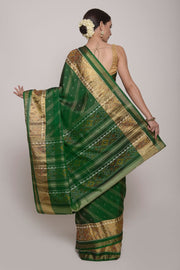 Shop Online for Green Patola Silk Saree | Indian Artizans