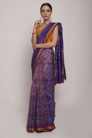 Shop Online for Purple Double Ikkat Saree | Indian Artizans