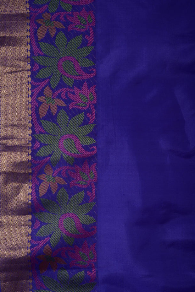 Shop Online for Beige Purple Kanjeevaram Silk Saree | Indian Artizans