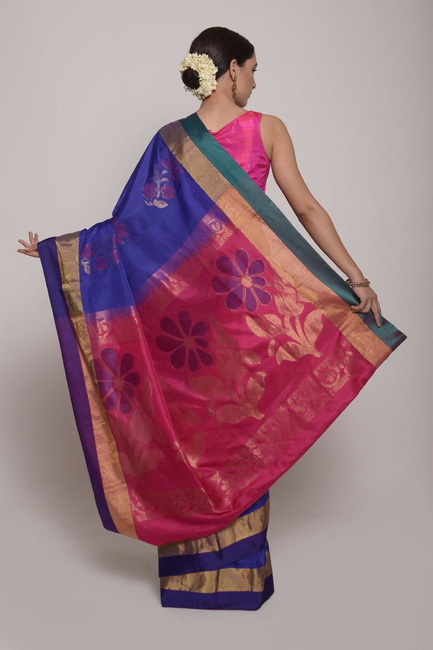 Shop Online for Purple Uppada Silk Saree | Indian Artizans