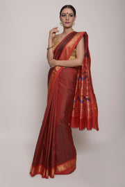 Shop Online for Orange Paithini Saree | Indian Artizans