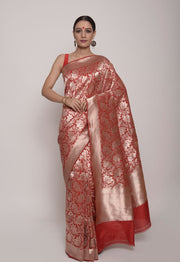 Shop Online for Red Banarasi Saree | Indian Artizans