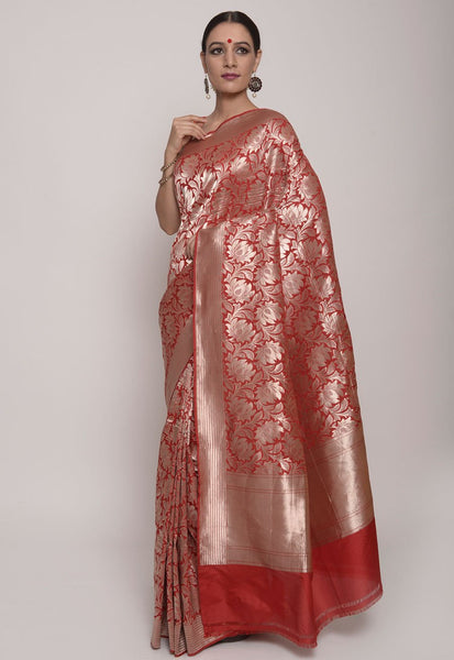 Red Banarasi from Indian Artizans,weavers, handloom sarees, incredible India