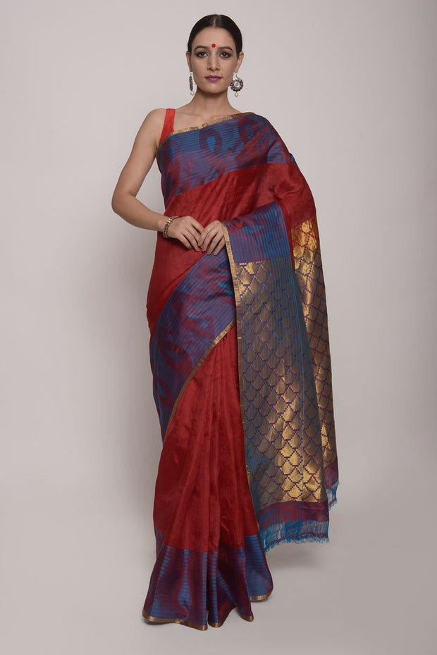 Shop Online for Red Uppada Silk Saree | Indian Artizans
