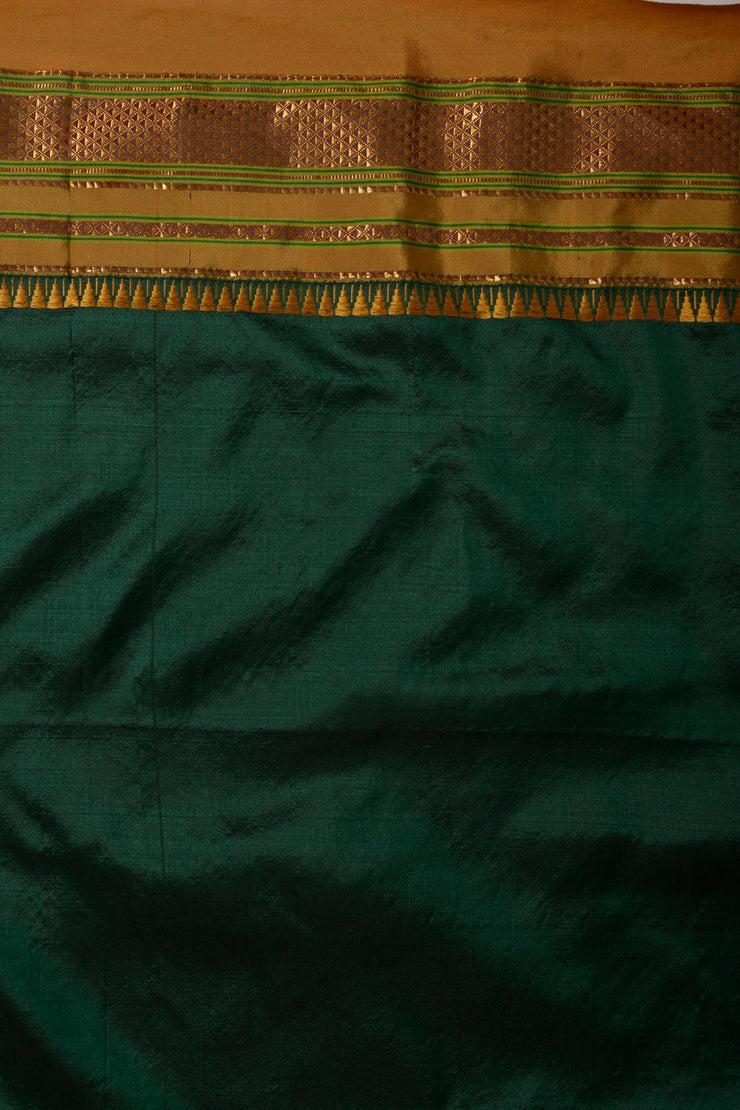 Shop Online for Bottle Green Ilkal Silk Saree | Indian Artizans