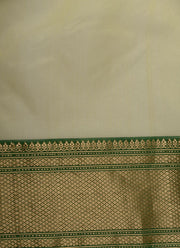 Shop Online for Lemon Green Chanderi Silk Saree | Indian Artizans