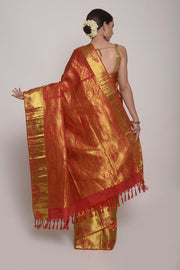 Shop Online for Red Kanjeevram Silk Saree | Indian Artizans
