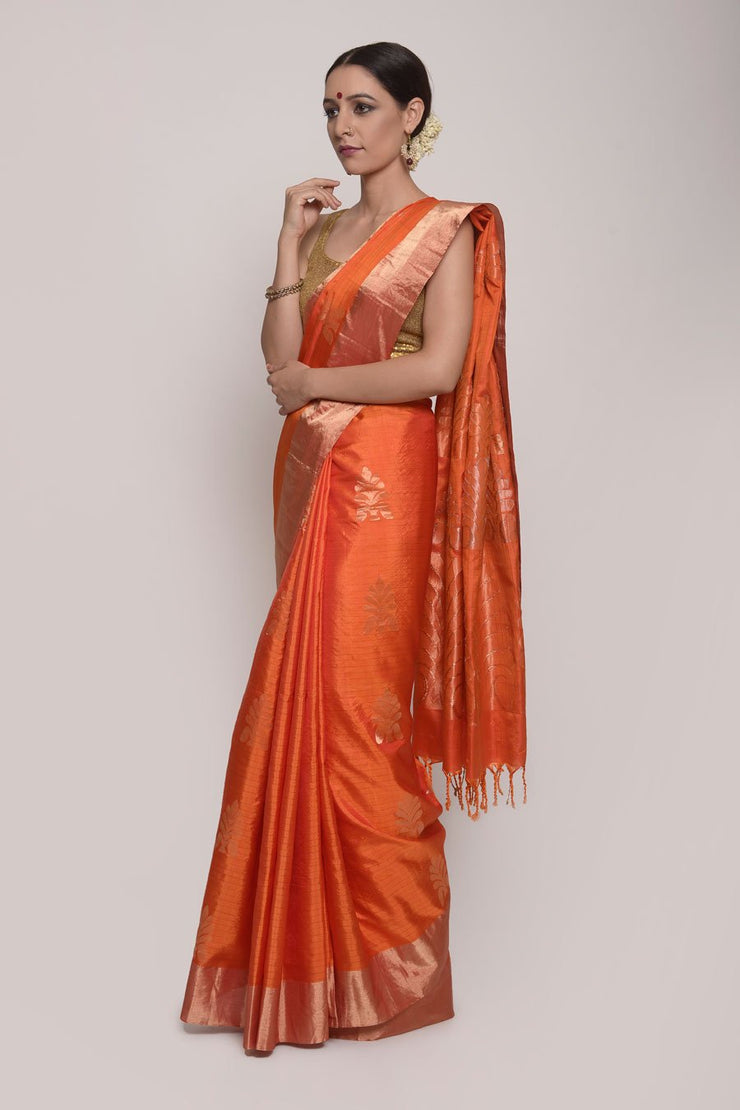 Shop Online for Orange Uppada Silk Saree | Indian Artizans