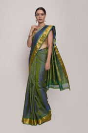 Shop Online for Green Kanjeevaram Silk Saree | Indian Artizans