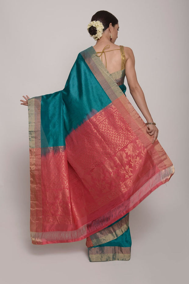Shop Online for Green uppada Silk Saree | Indian Artizans
