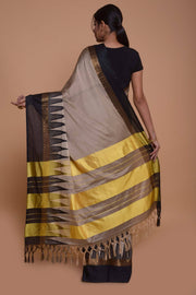 Shop online for Beige Semi Raw Silk Saree | Indian Artizans