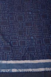 Shop online for Indigo Blue Cotton Block Print Saree | Indian Artizans