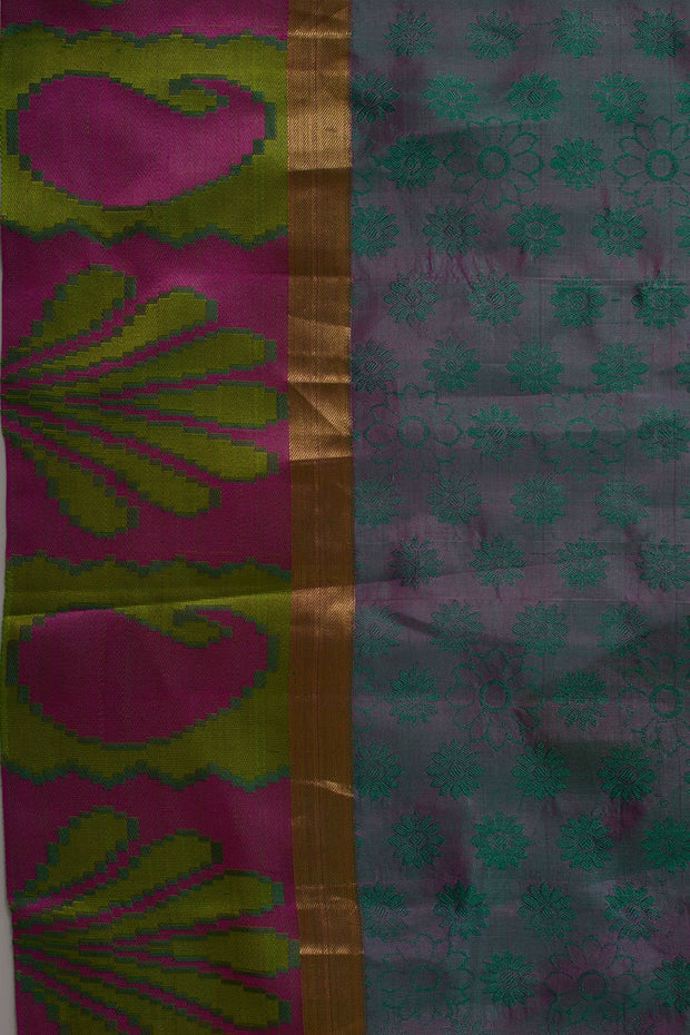 Shop Online for Peacock Blue Kanjeevaram Silk Saree | Indian Artizans