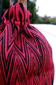 Indian Artizans - Red and Black Zig Zag Handmade Multipurpose Pouch