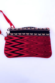 Indian Artizans - Red and Black Handmade Multipurpose Pouch